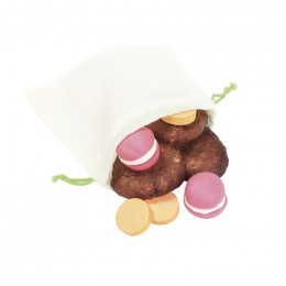 8 sacs réutilisables en coton BIO fruits secs, céréales... 4 XS et 4 S