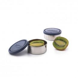 Petite boite ronde en inox 140 ml Océan Lot de 2