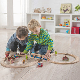 Circuit de train en bois - à partir de 3 ans