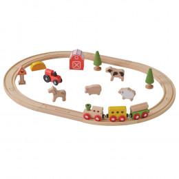 Circuit de train en bois Ferme - à partir de 3 ans