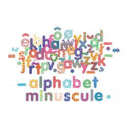 Magnets alphabet minuscule en bois - à partir de 3 ans