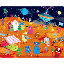 Puzzle Les extraterrestres 100 pièces - à partir de 5 ans