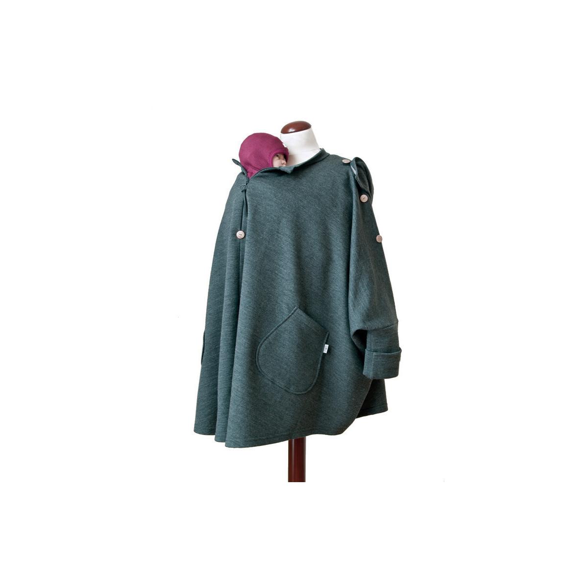 Poncho de maternité en laine Anthracite   - Sebio 6cb260c791e