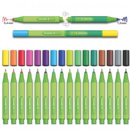 Minis marqueurs 0,4 mm Link It Bio 16 couleurs - à partir de 3 ans