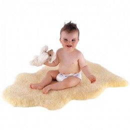 Peau d'agneau tannage Relugan - Poils courts Taille : +/- 85 x 55 cm