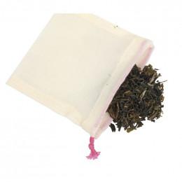 5 sachets Thé réutilisables et lavables en coton BIO