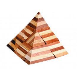 Casse-tête en bambou Pyramide - à partir de 8 ans