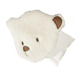 Bouillotte ours laine et noyaux cerises - dès la naissance