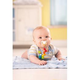 Attache-tétine 'Perles arc-en-ciel' - dès la naissance