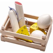 Assortiment de charcuterie et fromage en bois pour petite épicerie - Biofino - à partir de 3 ans