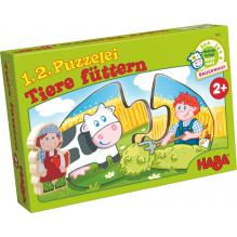 '1, 2, puzzle-moi - Nourrir les animaux' - à partir de 2 ans
