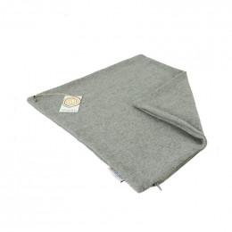 Housse en laine recyclée pour coussin 43 x 43 cm Gris clair *