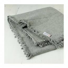 Couverture / plaid en laine recyclée Gris clair - 130 x 170 cm