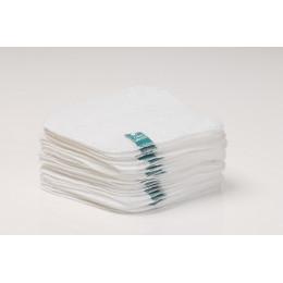 """25 lingettes """"coton éponge Terry - blanc"""""""