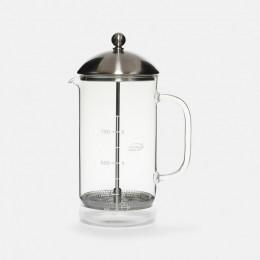 Cafetière à piston Verre / Inox - 1 litre / 8 tasses