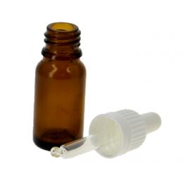 Flacon vide en verre 10 ml avec pipette doseuse en verre