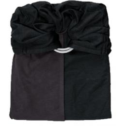 Petite écharpe sans noeud: anthracite / noir SANS Pad