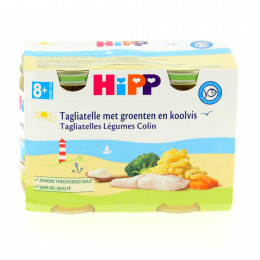 Tagliatelles légumes colin Bio dès 8 mois 2 x 190 g