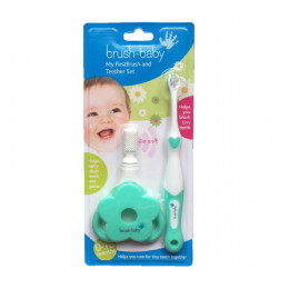 Kit anneaux de dentition + la première brosse à dents de bébé  0 à 18 mois