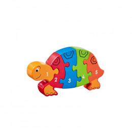 """Puzzle en bois 3D """"tortue"""" - à partir de 18 mois"""