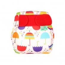 """Couche lavable TE1 TeenyFit  V4 - nouveau-né - motif """"Parapluies"""""""