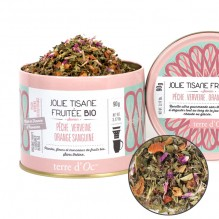 Jolie tisane fruitée Bio Pêche, Verveine, Orange sanguine 90 g