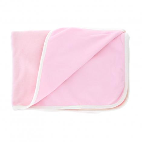 e1f57502517a Couverture velours réversible en coton Bio - Rose pâle - Sebio