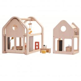 Maison de poupée mobile et modulable   - à partir de 3 ans