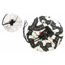 Sac de rangement et tapis de jeu (2 en 1) Play&Go - Circuit / Éclair
