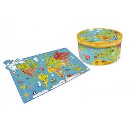 Puzzle géant carte du monde -  à partir de 6 ans