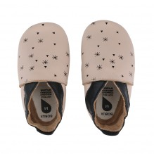 Chaussons 022-12 - Beige Snow Flakes
