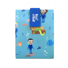 Porte sandwich lavable et réutilisable Boc'n'Roll - Kid Blue