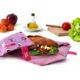 Pochette sandwich lavable et réutilisable Boc'n'Roll - Kid Pink