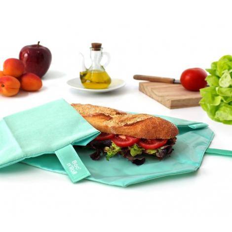 Porte sandwich lavable et réutilisable Boc'n'Roll - Eco Mint