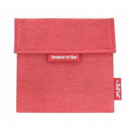Pochette casse-croûtes lavable et réutilisable Snack'n'Go - Eco Red