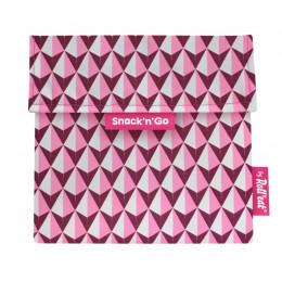 Pochette casse-croûtes lavable et réutilisable Snack'n'Go - Tiles Pink