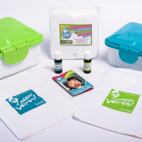 Kit TE1 lingettes lavables - bambou minky Rose oiseaux et libellules