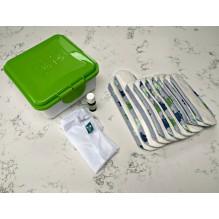 Kit complet - serviettes hygiéniques lavables - Gris clair arbres