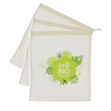 3 sacs à fruits et légumes en coton BIO Printemps