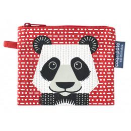 """Mini trousse - porte monnaie en coton BIO """"Panda"""""""