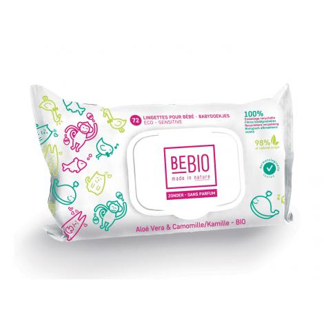 Lingettes BIO pour bébé - biodégradables - aloé vera camomille - 72 unités