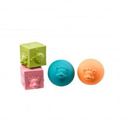 Balles et cubes pour bébé - A partir de 3 mois