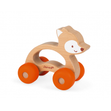 Renard à pousser sur roulettes Baby Pop à partir de 12 mois