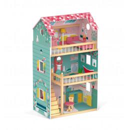 Maison de poupée en bois Happy Day à partir de 3 ans
