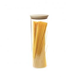 Bocal en verre avec couvercle hermétique en bois