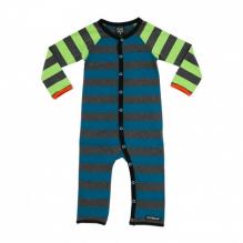 Pyjama combi en coton bio Lignes