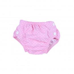 Couche (maillot de bain) Rose pois blancs