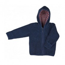 Gilet à capuche en laine polaire - Bleu foncé