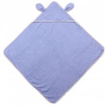 Cape de bain avec capuchon en coton Bio - Bleu ciel