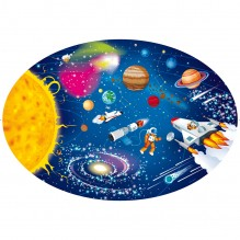 Puzzle 205 pièces et livre - le système solaire - à partir de 6 ans
